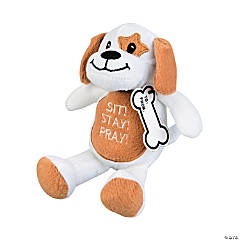 Plush Sit Stay Pray Dog