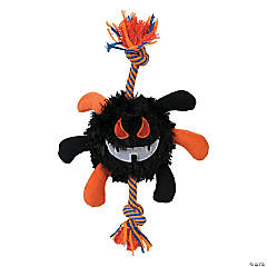 Plush Spider with Rope Dog Toy