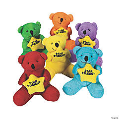 Plush Star Student Bears