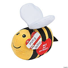 Plush Valentine Honey Bees