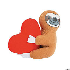 Plush Valentine Sloth
