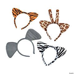 Plush Zoo Animal Ear Headbands