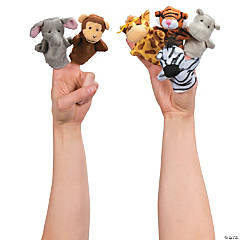 Plush Zoo Animal Finger Puppets