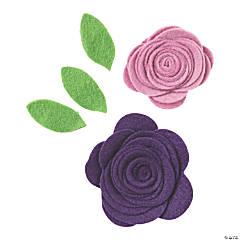 Pocket of Purple Felt Flowers