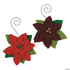 Poinsettia Christmas Ornament Craft Kit
