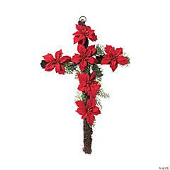 Poinsettia Cross Sign