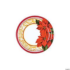 Poinsettia Lace Paper Dessert Plates