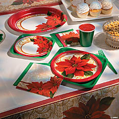 Poinsettia Lace Party Supplies