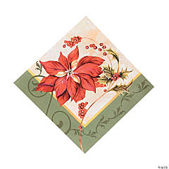 Poinsettia Luncheon Napkins