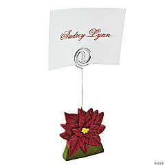 Poinsettia Place Card Holders