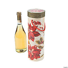 Poinsettia Wine Boxes