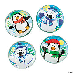 Polar Bear & Penguin Bouncy Balls