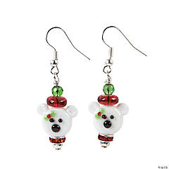 Polar Bear Lampwork Earring Craft Kit
