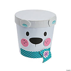 Polar Bear Treat Container Craft Kit