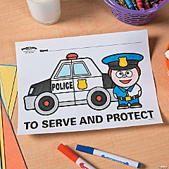 Police Party Free Printable Coloring Page Idea