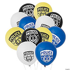 Police Party Latex Balloons