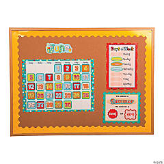 Polka Dot Calendar Bulletin Board Set