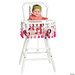 Polka Dot Girl High Chair Décor