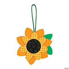 Polka Dot Sunflower Ornament Craft Kit