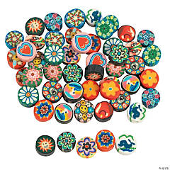 Polymer Clay Disk Beads