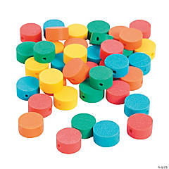 Polymer Flat Round Beads - 10mm