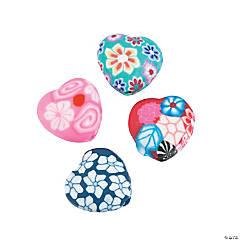 Polymer Heart Beads - 10mm