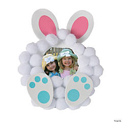 Pom-Pom Bunny Picture Frame Magnet Craft Kit