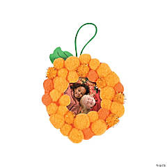 Pom-Pom Pumpkin Picture Frame Ornament Craft Kit