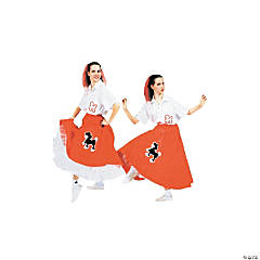 Poodle Skirt Red Adult Women's Costume