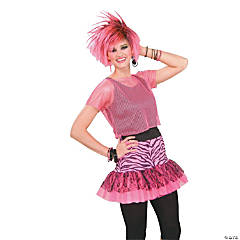 Pop Party Skirt Pink Adult Women's Costume
