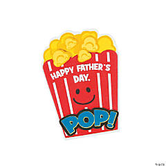 Popcorn Father's Day Magnet Craft Kit