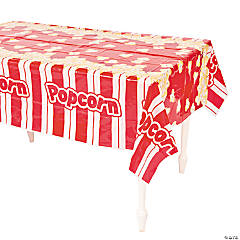Popcorn Plastic Tablecloth