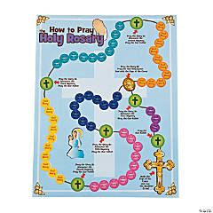 Pray the Rosary Sticker Scenes