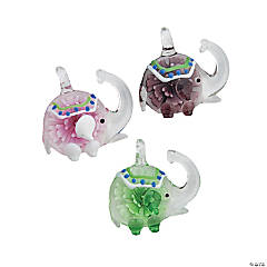 Premium Glass Elephant Pendants