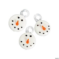 Premium Glass Snowman Charms