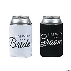 Premium Neoprene with the Bride/with the Groom Can Covers