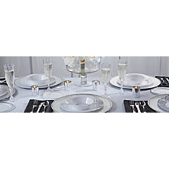 Premium Silver-Edged Tableware Collection