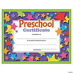 Preschool Certificate - 30 per pack, 6 packs