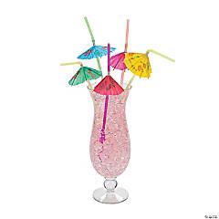 Pretty Parasol Plastic Straws