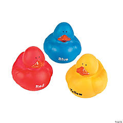 Primary Color Rubber Duckies