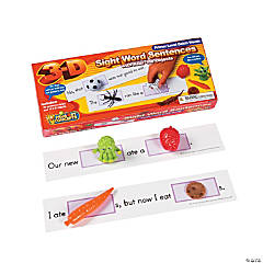 Primary Concepts™ 3-D Sight Word Sentences Primer Level Dolch Words