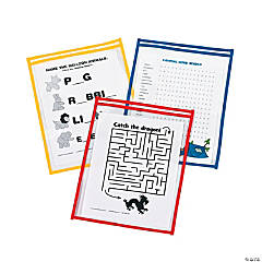 Primary Top-Loading Dry Erase Pockets