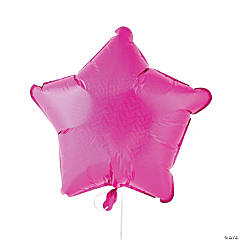 Prismatic Pink Star Mylar Balloon