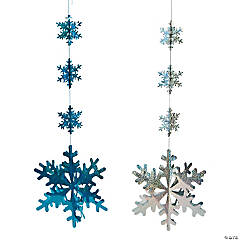 Prismatic Snowflake Ceiling Decorations