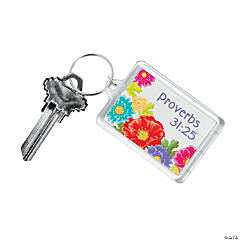 Proverbs 31:25 Key Chains