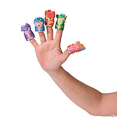 Puffy Dinosaur Finger Puppets