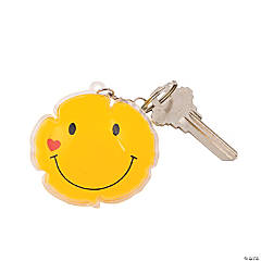 Puffy Smile Face Key Chains