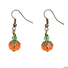 Pumpkin Bead Cap Earring Kit