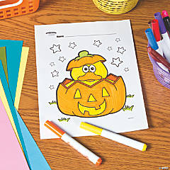 Pumpkin Duck Free Printable Coloring Page