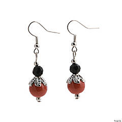 Pumpkin Earrings Craft Kit